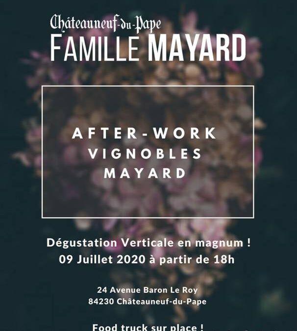 Invitation à l'After Work des Vignobles Mayard le jeudi 9 juillet 2020 pour une dégustation verticale en magnum.
